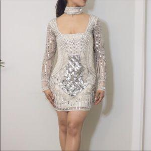 MISSGUIDED EMBELLISHED DRESS